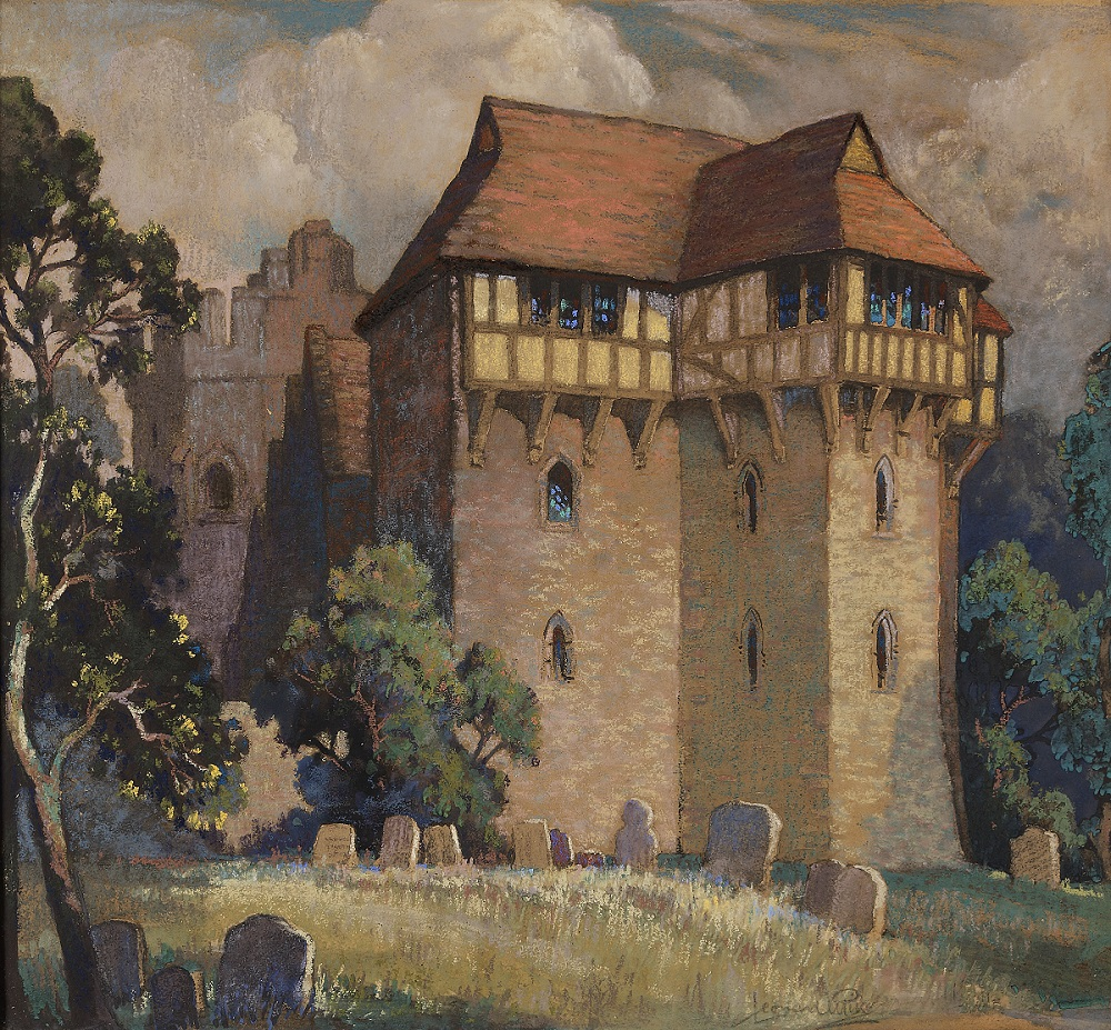 Stokesay Castle painting
